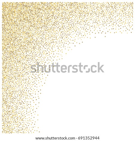 a5eb708374f2 Gold Glitter Corners Frame Border Background Stock Vector (Royalty ...