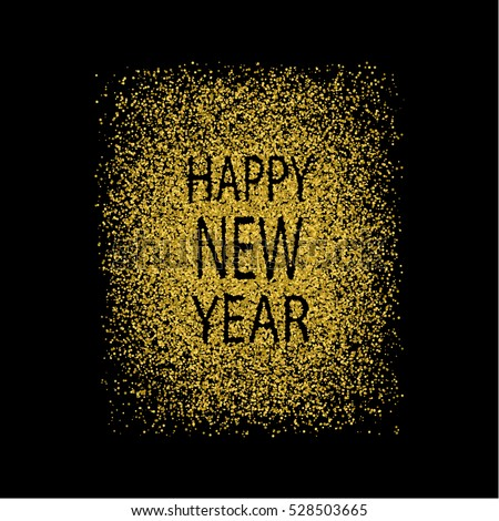 gold glitter happy new year abstract golden background gold blur background vector
