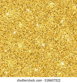 Gold glitter seamless pattern. Vector