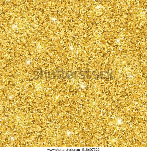 Gold glitter seamless pattern. Vector
