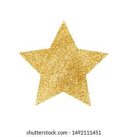 Gold glitter star. Vector illustration.
