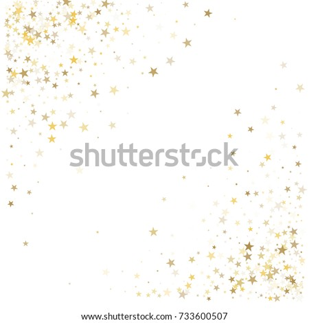 ecad8bddf75 Gold Glitter Stars Corners Frame Border Stock Vector (Royalty Free ...