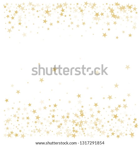 697eb8bd540 Gold Glitter Stars Frame Border Background Stock Vector (Royalty ...