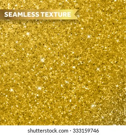 Gold glitter texture for background. Glittery seamless shimmering sequins pattern