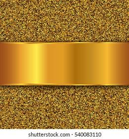 Gold glitter texture. Golden vector background