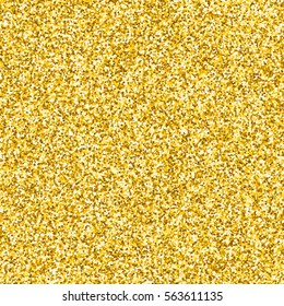 Gold glitter texture. Vector background with golden metallic effects.