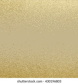 Gold glitter texture.Gold sparkles on dark background. Gold glitter texture. Creative invitation for new year, wedding, birthday. Gold glitter texture.Trendy modern vector illustration. Gold  texture