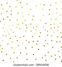Gold glittering background vector Polka dot