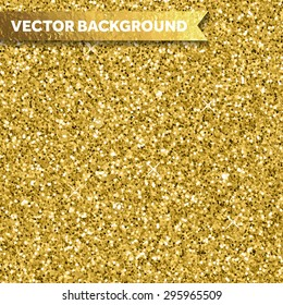 Gold glittery texture. Vector glitter golden background