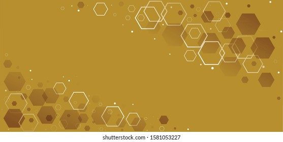 Gold golden honeycomb monochrome honey seamless pattern Vector cell cells mosaic background raster fun funny honey bee honeycombs Beehive pattern ornament hexagon geometric shapes christmas xmas