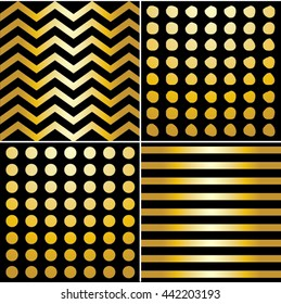 Gold gradient patterns