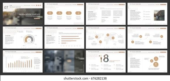 Gold and gray elements for infographics on a white background. Presentation templates. Use in presentation, flyer and leaflet, corporate report, marketing, advertising, annual report, banner.