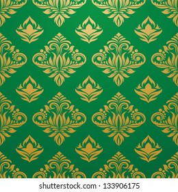 Gold and Green Pattern