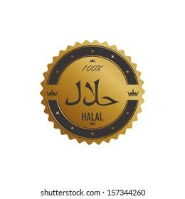 gold halal label