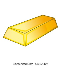 Gold icon. Cartoon illustration of gold vector icon for web