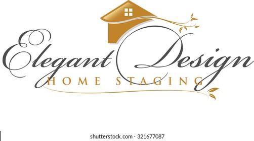 Gold icon representing a home staging or real estate business