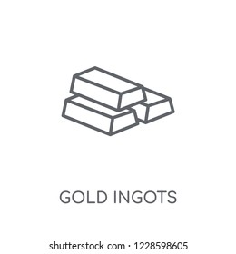 Gold Ingots linear icon. Modern outline Gold Ingots logo concept on white background from Startup Strategy and Success collection. Suitable for use on web apps, mobile apps and print media.