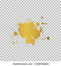 Gold ink splashes. Grunge splatters. Abstract background. Grunge text banners