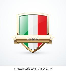 Gold Italy shield