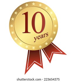 gold jubilee button 10 years