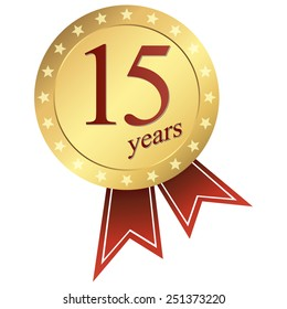gold jubilee button 15 years