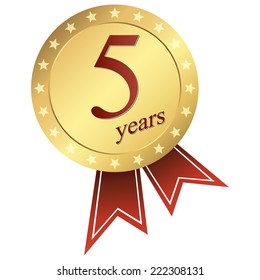 gold jubilee button 5 years