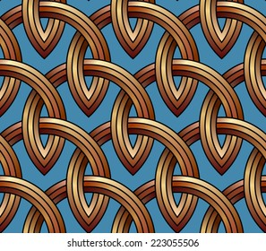 Gold lattice - seamless vector pattern.
