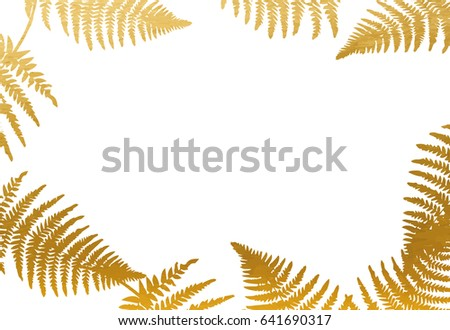 Gold Leaf Frame On White Background Stock Vector (Royalty Free ...