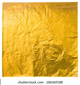 gold leaf isolated on a white background, vector