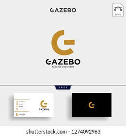Gold Letter G creative Logo with business card