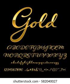 gold letter set