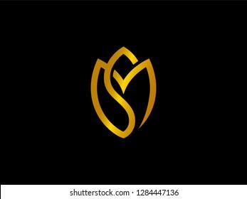 Gold Letter SM Tulip
