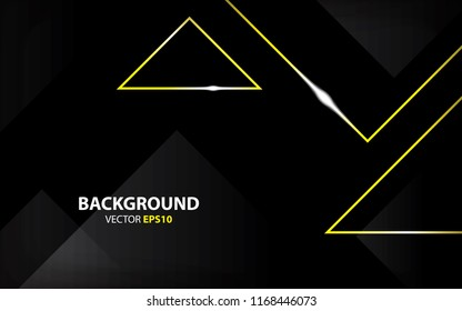 Gold light and black background vector