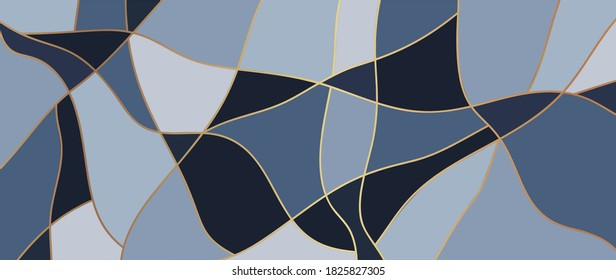 Gold lines background vector. Luxury pattern design with abstract shape and golden texture. Modern wallpaper design for print, cover, wall art, fabric  and banner background.