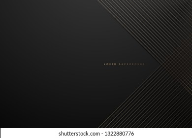 Gold lines on black background