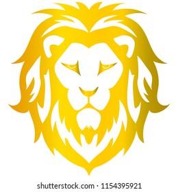 Gold lion vector art