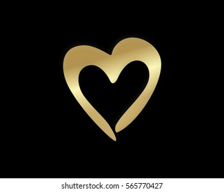 gold love abstract logo 8