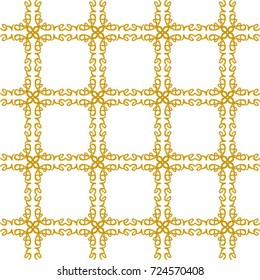 Gold love grid - the word love reflected in all directions