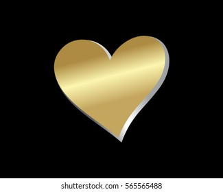 gold love heart valentine logo 2