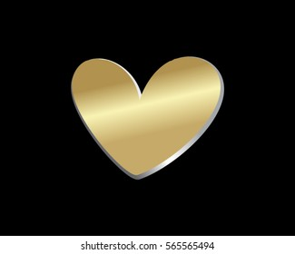 gold love heart valentine logo 6
