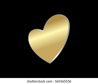 gold love heart valentine logo 4