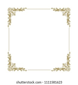 gold, luxury logo frame