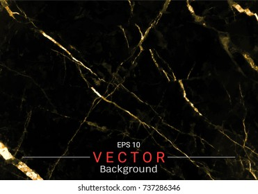 Gold marble, Vector pattern with golden foil texture on black and dark background, Modern and luxury design template for your design wedding, invitation, greeting cards, web, banner, and wallpaper.