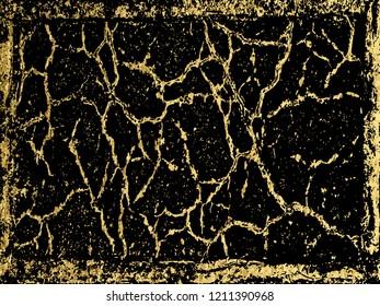 Gold Marbling Texture design for poster, brochure, invitation, cover book, catalog. Vector illustration