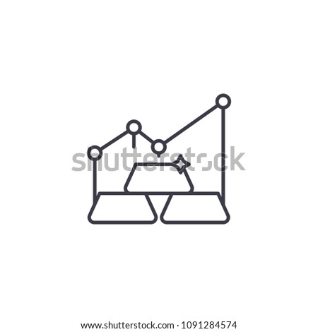 Gold Market Linear Icon Concept Gold Stock Vector Royalty Free