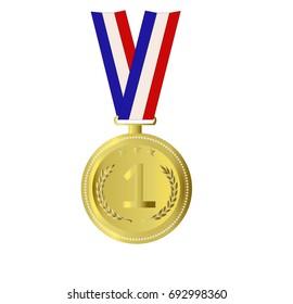 Gold medal for first winner. Sport concept.