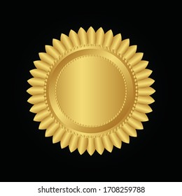 gold medal on a black background