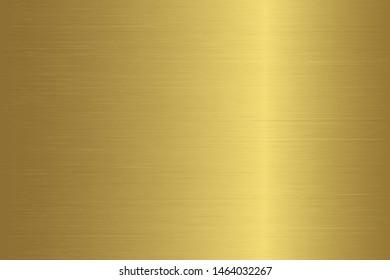 Gold metal gradient scratch texture background. Gold scratched metal chrome texture vector icon foil background. Gold grunge background for banner, ribbon, label. Gold scratch shine metal design
