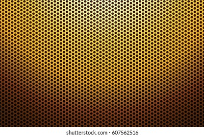 gold metal perforated texture