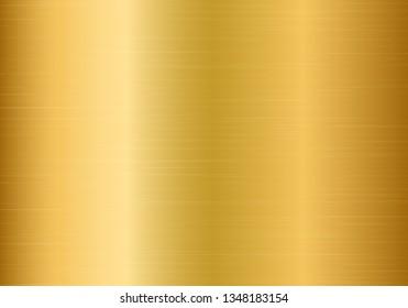 Gold metallic gradient with shiny stripes